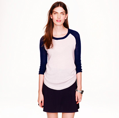 Merino Mesh-Sleeved Colorblock Sweater.