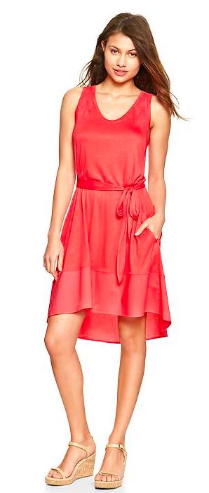Gap mix-fabric tank dress.