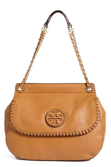 Tory Burch Marion Leather Saddlebag.