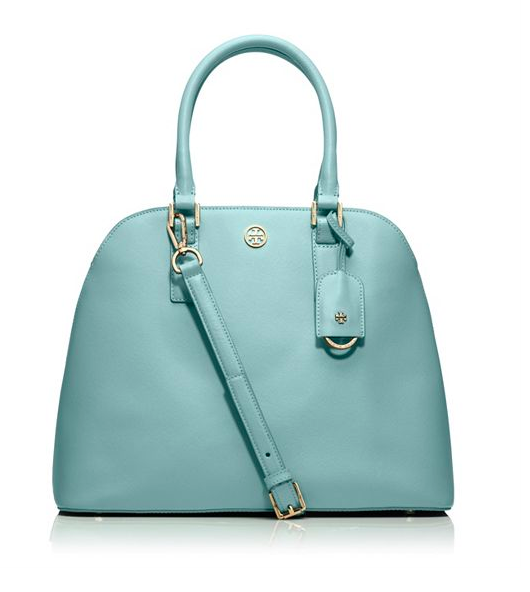 Tory Burch Robinson Open Dome Satchel.