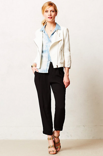 Anthropologie Waffled Moto Jacket.