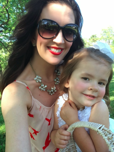 Jennifer and her precious daughter, Vivian, at a wedding this past weekend.