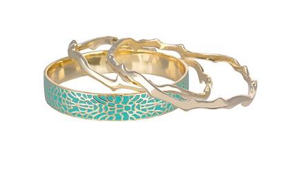 Maran Bangle Bracelets in Turquoise.