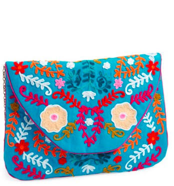 Big Buddah Large Embroidered Clutch via Nordstrom.