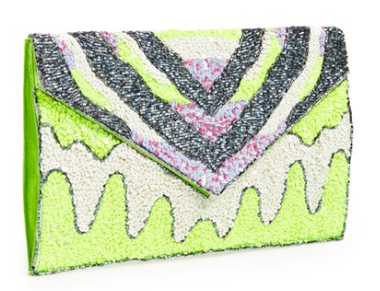 Nila Anthony Beaded Envelope Clutch.