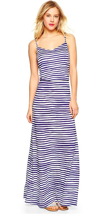 Gap Stripe Maxi Dress.