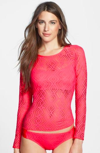 Becca Crochet Rashguard.