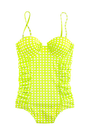 J.Crew Grid Dot Underwire Tank. {available in multiple colors}