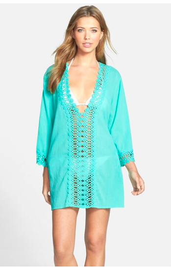 La Blanca Crochet Trim Coverup.