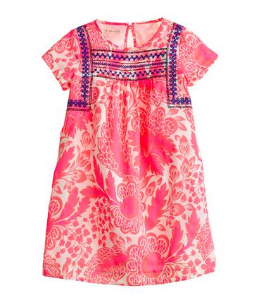 J.Crew Crewcuts Pink Floral Dress.