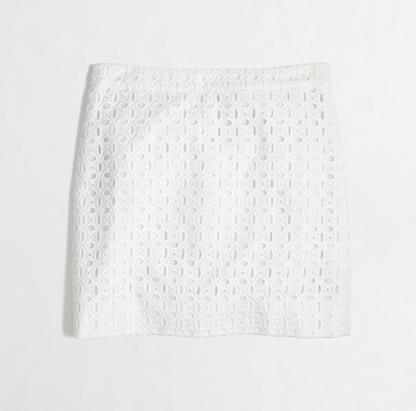 J.Crew Factory Eyelet Mini Skirt.