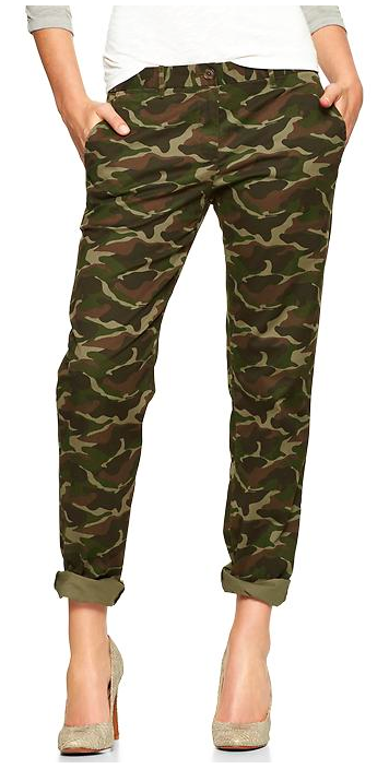 Gap Camo Broken-In Straight Khakis.