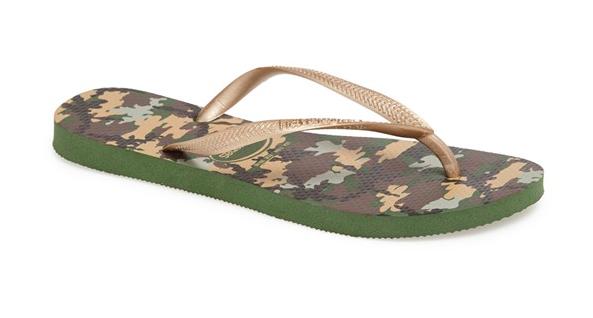 Havaianas Camo Flip Flops.