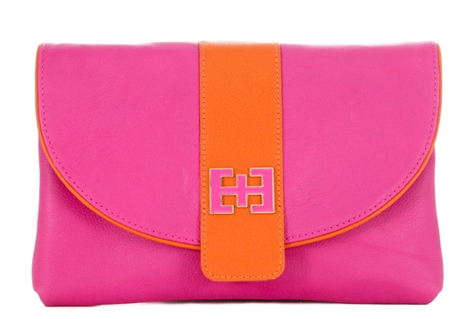Isabella Hibiscus and Tangerine Clutch.