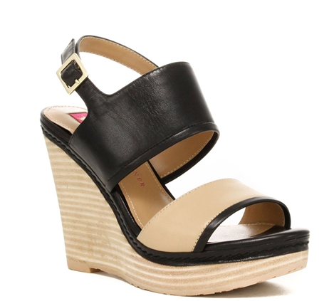 Camila Black and Butter Leather Wedge.