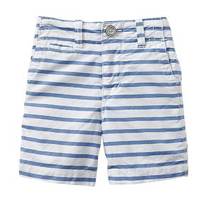 Gap Oxford Stripe Flat Front Shorts.