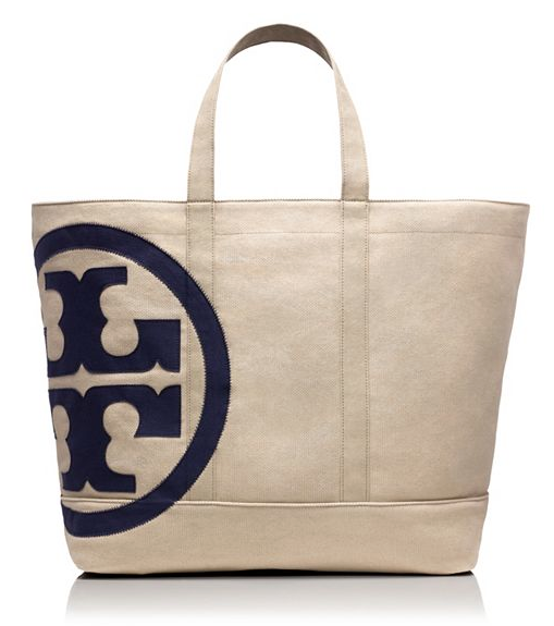 Tory Burch Beach Zip Tote, $195. {smaller size also available}