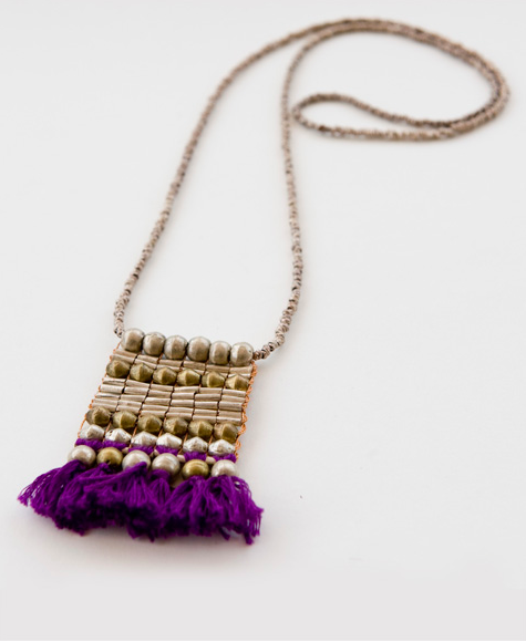 Tasseled Ladder Necklace, $62.