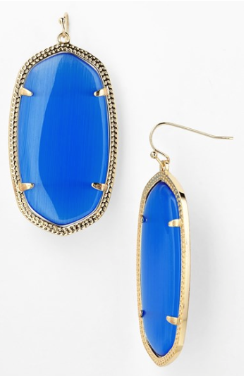 "Kendra Scott ""Danielle"" Oval Statement Earrings."