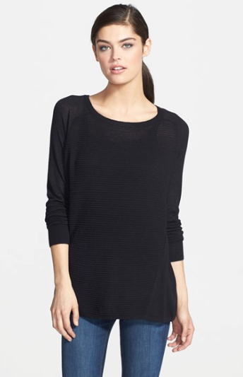 Trouve Textured Striped Crewneck Sweater, $49.90. {reguarly $68}