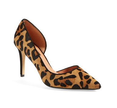 Halogen Calf-Hair Pointy Toe Pumps, $59.90. {reguarly $89.90}