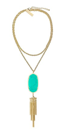 Kendra Scott Rayne in teal. {what I am wearing in all these pictures}
