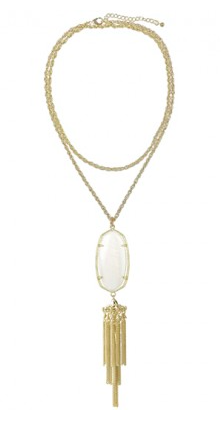 Kendra Scott Rayne in white pearl.