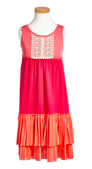 Twigs & Twirls Crochet Trim Maxi Dress, $35.