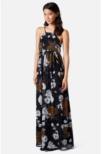 Topshop Folk Print Maxi Dress.