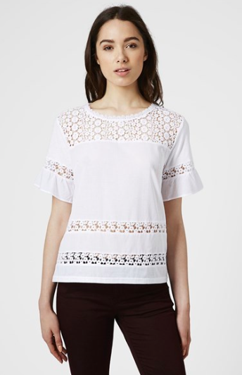 Topshop Crochet Inset Top.