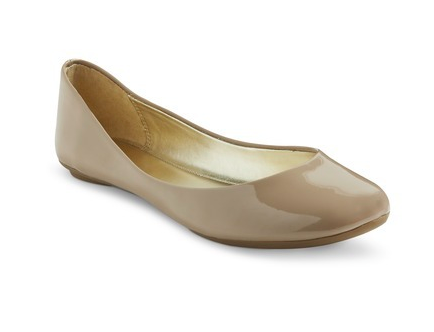 Shae Ballet Flat in Nude.