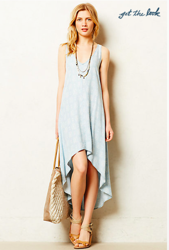Anthropologie Chambray Maxi Dress.