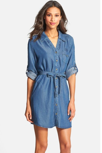 Velvet Heart Pin Dot Shirtdress via Nordstrom.