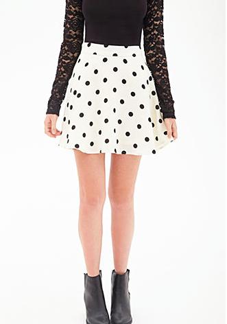 Forever 21 Polka Dot Skater Skirt.