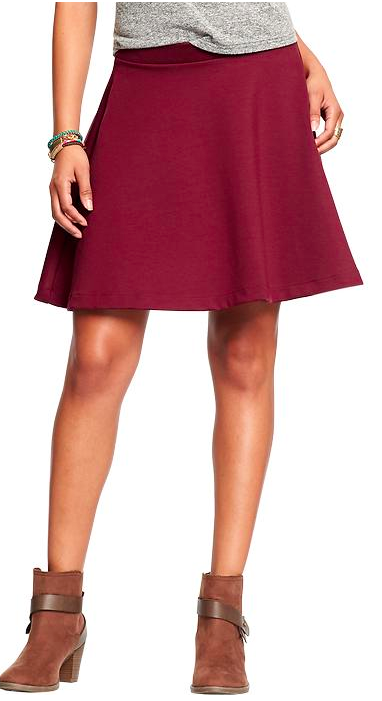 Old Navy Ponte Knit CIrcle Skirt.