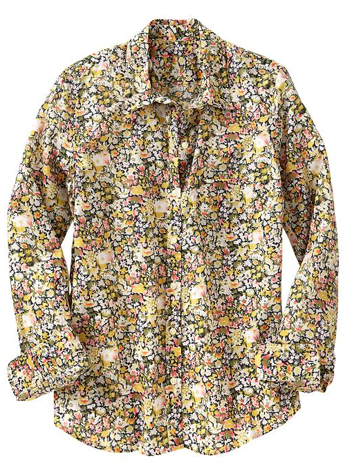 Gap Fitted Boyfriend Floral Shirt.