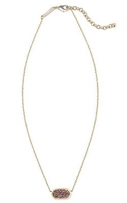 Kendra Scott Elisa Necklace in Multi-Colored Drusy.