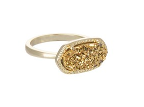 Kendra Scott Ella Ring in Gold Drusy.