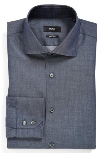 Hugo Boss Sharp Fit Check Dress Shirt