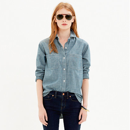 Madewell The Perfect Chambray Shirt.