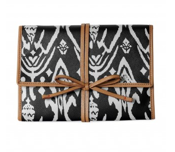 Bring It Jewelry Roll in Espresso Ikat.