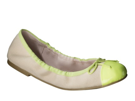 Bree Ballet Flat in Lime, $27.99.