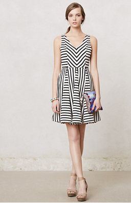 Anthropologie Striped Day Dress, $78. {Available in 3 colors!}