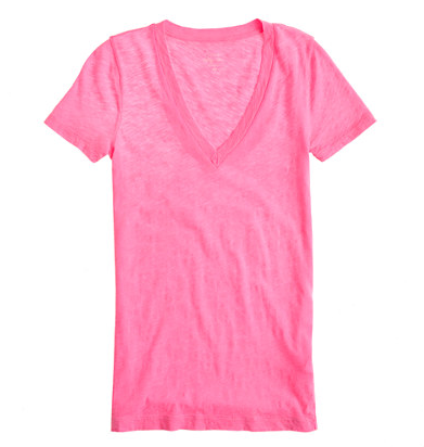 J.Crew Vintage Cotton V-Neck Tee, $29.50.