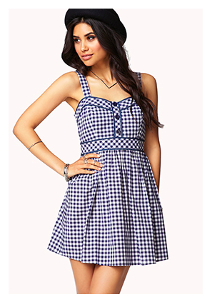 Forever 21 Gingham Plaid A-Line Dress, $22.80.