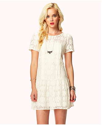 Forever 21 Drop Waist Lace Dress, $24.80.