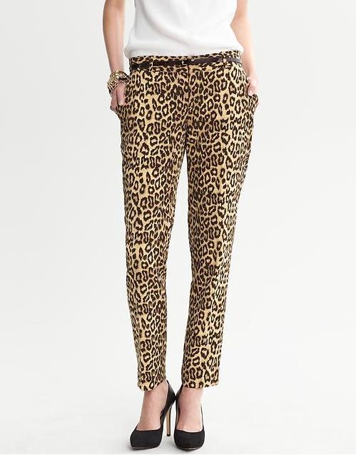 BR Leopard Skinny Pants.