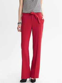 Red - wide leg pant