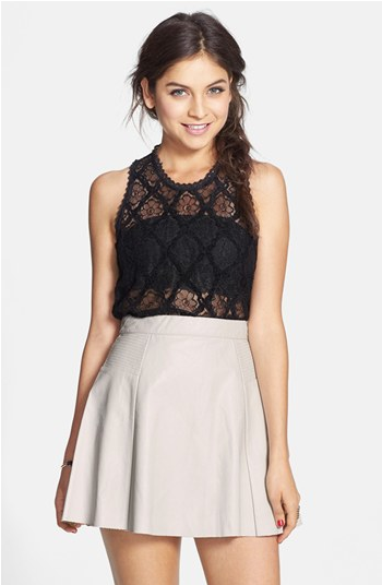 Nordstrom BP Faux-Leather Skater Skirt, $38.