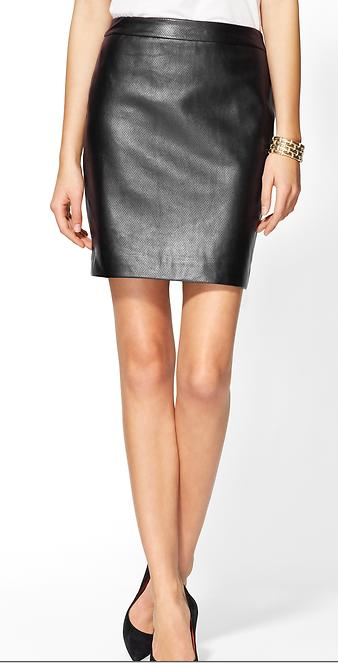 Rhyme Los Angelos Perforated Vegan Leather Skirt, $29.97.